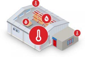 mapeo de humedad y temperatura en almacenamiento